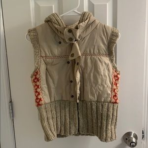 Hooded Free People puffer vest